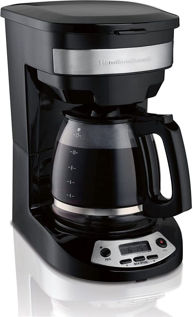 3. Hamilton Beach 12-Cup Programmable Coffee Maker (46299)